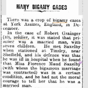 Many cases of Bigamy